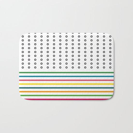 stripes & rings Bath Mat