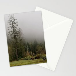 Foggy Fall Forest Stationery Cards