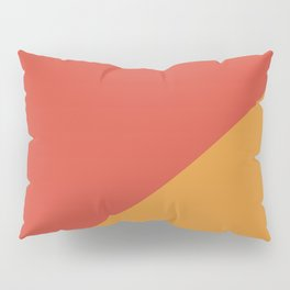 Warm Red & Orange - oblique Pillow Sham