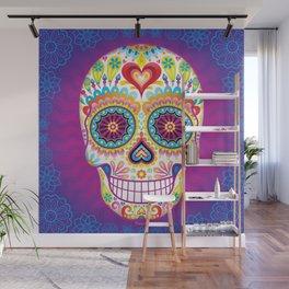 Sugar Skull Art (Luminesce) Wall Mural