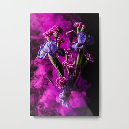 Purple Floral Smoke Bouquet  Metal Print