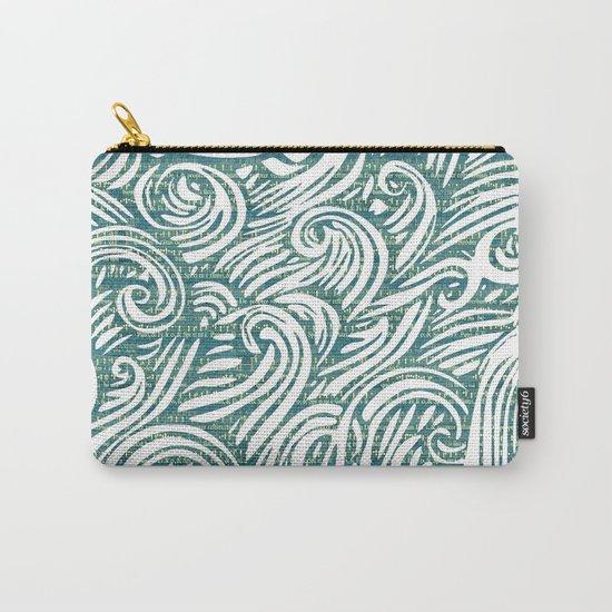 Music waves zen art print Carry-All Pouch