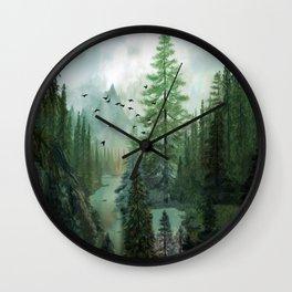 Mountain Morning 2 Wall Clock