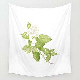 Gardenia Flower Wall Tapestry