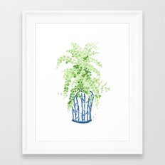 Ginger Jar + Maidenhair Fern Framed Art Print
