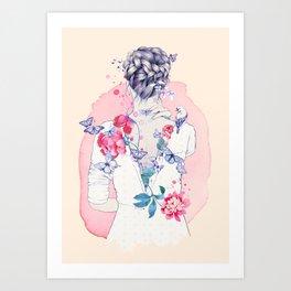 Undress me Art Print
