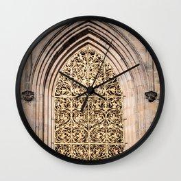 Golden Window Wall Clock