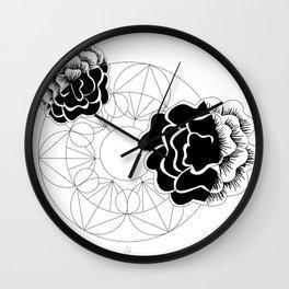 Roses mandala Wall Clock