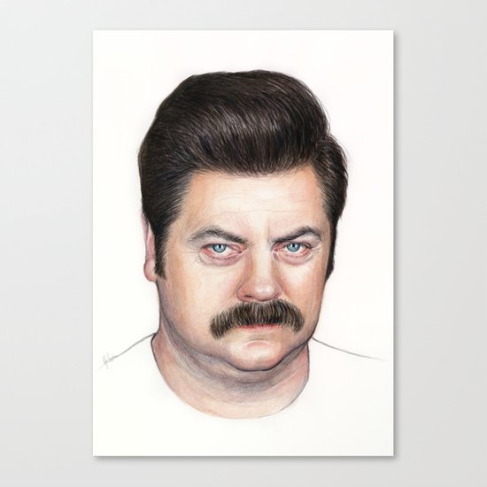 Ron Swanson Canvas Print