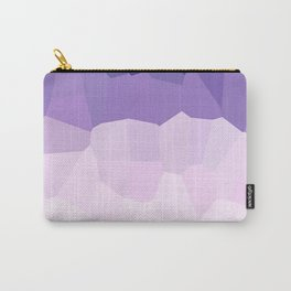 Purple Watercolor Crystals Carry-All Pouch