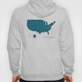 Modern Map - United States of America USA Hoody