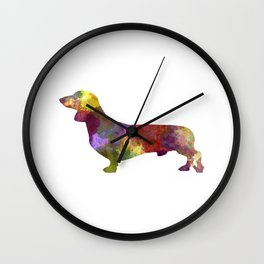 Dachshund in watercolor Wall Clock
