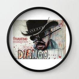 Django / Jamie Foxx Wall Clock