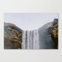 Skógafoss Waterfall, Iceland Canvas Print