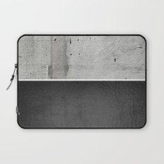 Raw Concrete and Black Leather Laptop Sleeve