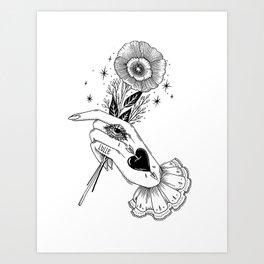 a Kind Flower Art Print