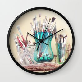 Kathy's Paintbrushes Wall Clock