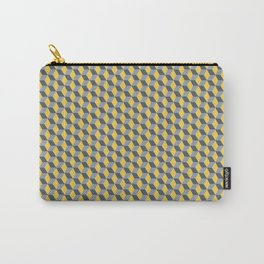 Yellow blu hex Carry-All Pouch