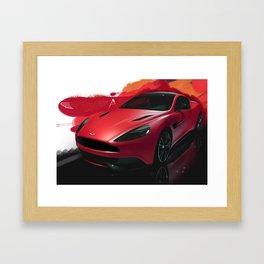 Aston Martin Vanquish S Digital Painting   Automotive   Car Framed Art Print