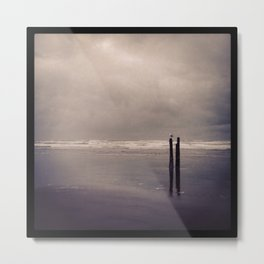 Gray Shore Metal Print