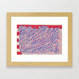Compression artifact resulting from excessive tendril density Framed Art Print
