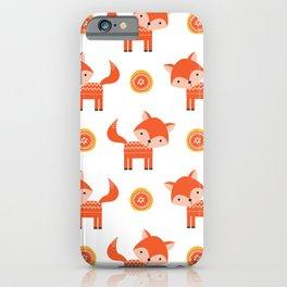 Orange Fox iPhone Case