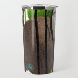 nature subtracted from world Travel Mug