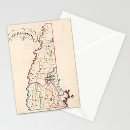 Vintage Map of New Hampshire (1819) Stationery Cards
