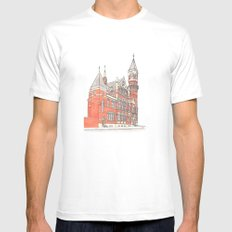 NYC Jefferson Market Library Mens Fitted Tee White MEDIUM