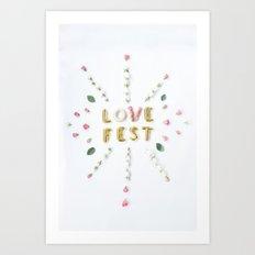 love fest Art Print