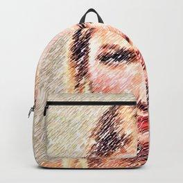 Blonde Portrait - Jéanpaul Ferro Backpack