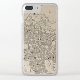 19th Century Topographical Vintage Antique Map marseille France Steampunk Clear iPhone Case