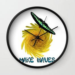 Longwing butterfly su Wall Clock