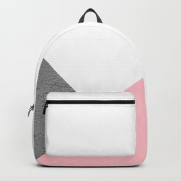 Concrete vs pink geometrical Backpack