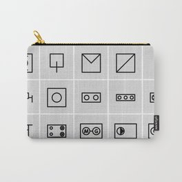 icons electrical symbols Carry-All Pouch