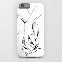 Holding Hands iPhone Case