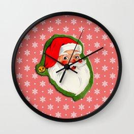 Santa_Vintage Wall Clock