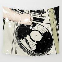 dj Wall Tapestries featuring DJ! by Parrish
