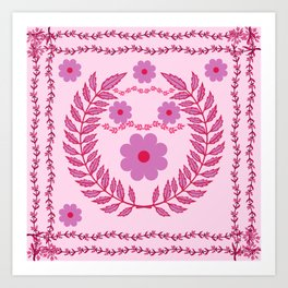 Flower Pattern3 Art Print