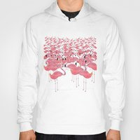 flamingos Hoodies featuring Flamingos by Lydia Coventry