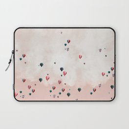 Hotair balloons with sweet cotton candy Laptop Sleeve