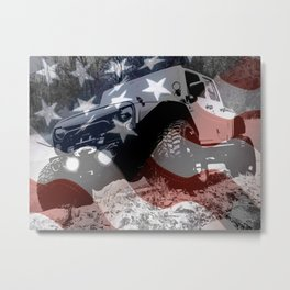 Red White and GP Metal Print