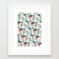 bath Framed Art Prints featuring Bath by Coral Elizabeth Design