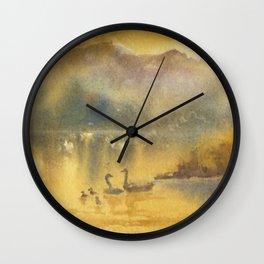 Golden Sunrise Wall Clock