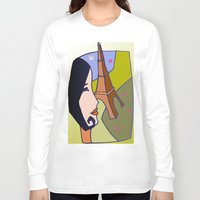 france Long Sleeve T-shirts featuring France by Karl-Heinz Lüpke