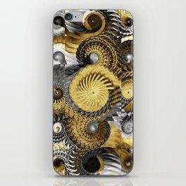 Golden and Silver Twisters iPhone Skin