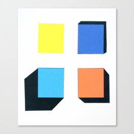 Squares in cross Canvas Print