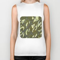 camouflage Biker Tanks featuring Camouflage  by Ethna Gillespie