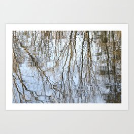 Flowing Lines -Nature abstract Art Print