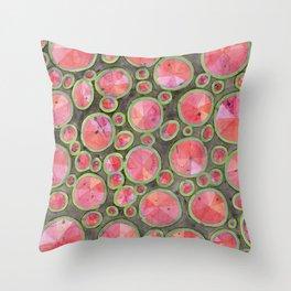 Big Red Circles Pattern Throw Pillow